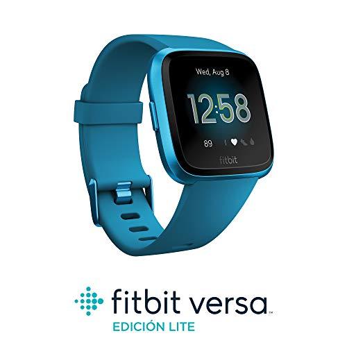 Fitbit Versa Lite - Reloj Deportivo Smartwatch, Adultos Unisex, Azul Marino/Aluminio, Talla única
