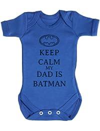 TRS - Calm My Dad Is Batman Baby Bodysuit / Babygrow 100% Coton