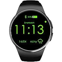 Herzfrequenz Monitor Smartwatch, sununitec KW18Fitness unterstützt SIM TF-Karte Watch Handy Schrittzähler Schlaf Monitor Anti verloren Bluetooth Armbanduhr für iOS und Android