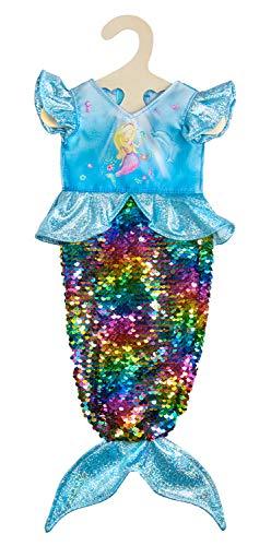 Heless 2920 AVA - Vestido de Sirena con Lentejuelas Reversibles para muñecas (35-45 cm)