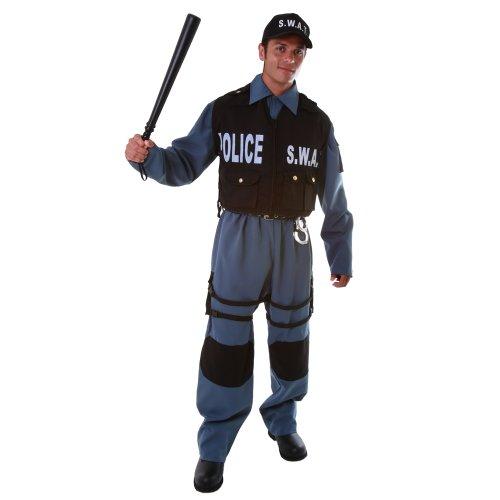 Deluxe Kostüm Polizist - Dress Up America Erwachsene Deluxe S.W.A.T Polizist Kostüm