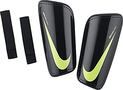 Nike Unisex Hard Shell Slip-in Shin Guards, Black/Volt, (Nike Slip)