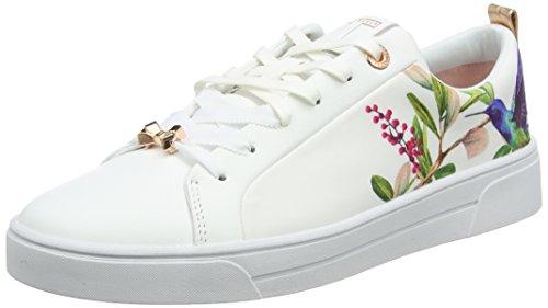 Ted Baker Ahfira, Zapatillas Para Mujer, Blanco (Highgrove Hummingbird #Ffffff), 36 EU