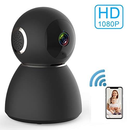 Zeetopin WLAN Kamera IP Überwachungskamera 1080P mit Nachtsicht, 2 Wege Audio, Fernalarm, Bewegungserkennung, Mobile App Kontrolle als Baby/Haustier-Monitor Mobile Audio
