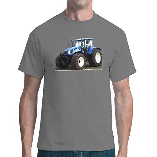 Traktoren unisex T-Shirt - Traktor New Holland T7 by Im-Shirt - Grau L