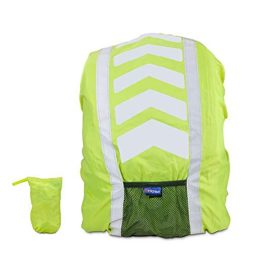 Komake Regenschutz für Rucksack, Regenhülle Regenschutz für Schulranzen Schulrucksack Ranzen, Regenschutzhülle, Rucksackschutz mit Reflektorstreifen für Wandern, Camping, Radfahren