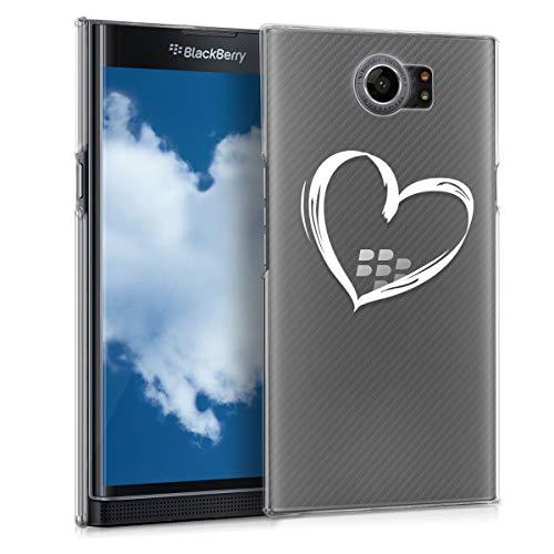 kwmobile BlackBerry Priv Hülle - Handyhülle für BlackBerry Priv - Handy Case in Weiß Transparent