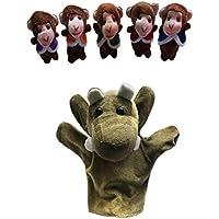 6 Piezas Marionetas de Dedo Cinco Pequeños Monos y Un Oscilar Árbol - Peluches y Puzzles precios baratos