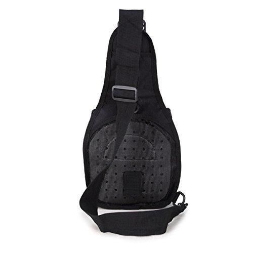 BULAGE Pack Brusttasche Farbe Persönlichkeit Mode Tragbar Tarnung Schulter- Messenger Outdoor Freizeit Sport Radfahren Backpacking Black