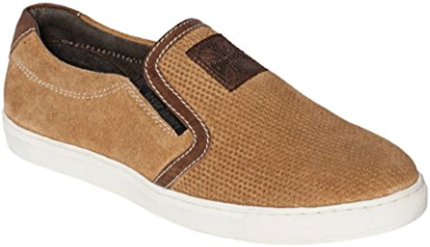 West Coast Choppers Choppers Choppers Shoes Outlaw Suede Slip-Ons Brown f6a268