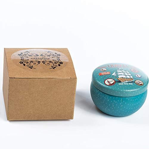Kerze Cartoon Eisen Box Duftkerze Hause beruhigende Schlafmittel frisch und angenehm stinkende Kerze Kalk Basilikum 6,5x4cm -
