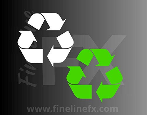 CECILIAPATER Recycling-Symbol Logo, gestanzt, Vinyl-Aufkleber -
