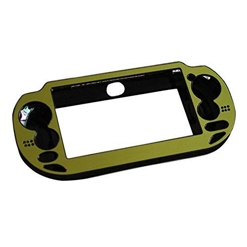 Yiliankeji Faceplates Skins für PlayStation Vita - Aluminium Metall Schutzhülle Harte Schale Abdeckung für Konsole Farbe Grün Sony Hard-faceplates