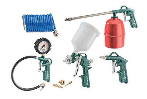 Metabo LPZ 7 Set Pressurised Air Tool Set (Set of 7)