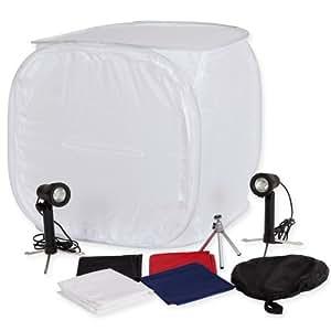 TecTake Photo Tente Cube Lumière Softbox Diffuseur Tente avec 2 lampes et 4 fonds