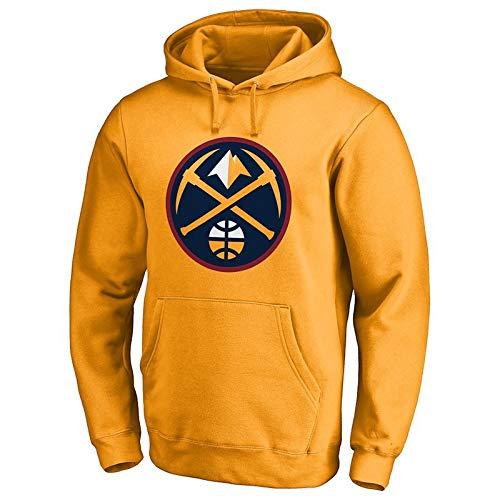 lover Nuggets Mit Kapuze Pullover Trainingsanzug Team Gruppe Kleidung Sport Lose Pullover Mit Kapuze Pullover (Farbe : Gelb, größe : S) ()