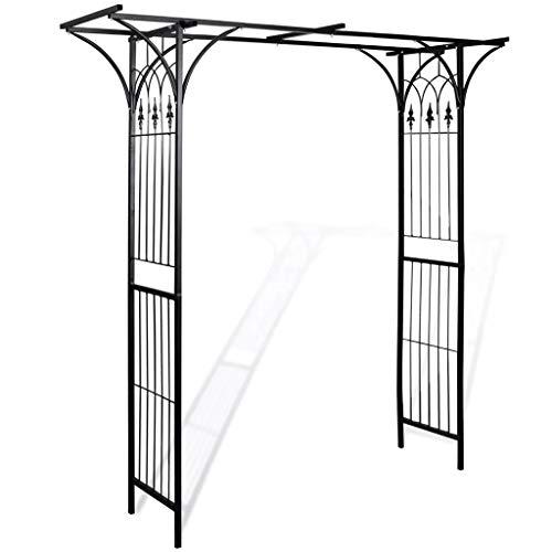 Wakects Arco da Giardino Arco da Giardino per Piante Rampicanti Arco di Trionfo Decorazioni Metallo per Rose Rampicanti Pergolati per arredo Giardino
