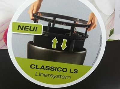 Lechuza CLASSICO LS Premium 50 Komplettset - ANTHRAZIT metallic von Lechuza auf Du und dein Garten