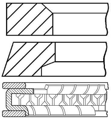08-433700-00 Payen Piston Rings - Cylindre Unique OE Qualité
