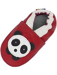 c11b9ee5f82b3 Carozoo Chaussures Bébé Enfant à Semelle Souple Chaussons Cuir Souple 0-6  Mois ...