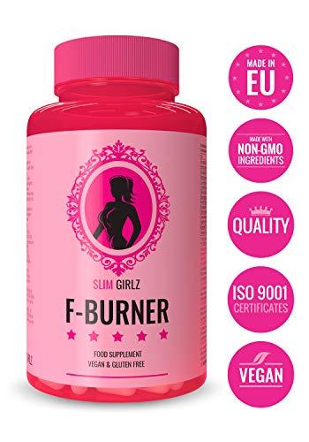 Slim Girlz Fat-Burner | Quemador De Grasa Para Mujeres | 10 Ingredientes Activos Para Pérdida De Peso | Pastillas Sin Estimulantes, Seguras, Naturales y Eficaces | Hecho en UE | 60 Cápsulas Veganas