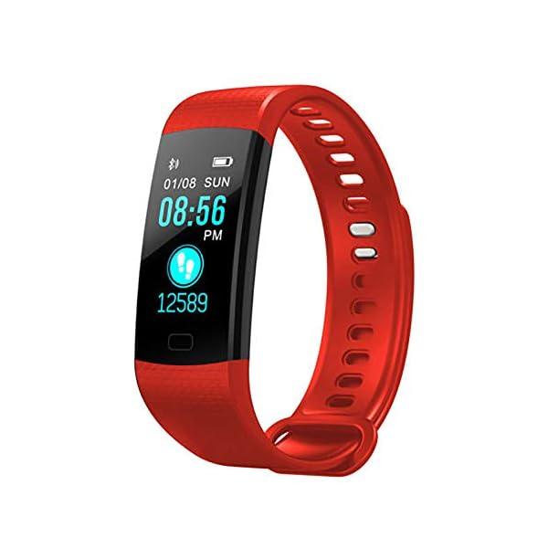 Milnnare Reloj Inteligente Presión Arterial Frecuencia cardíaca Monitor de sueño Podómetro Sports Fitness Smart Pulsera - Purple 4
