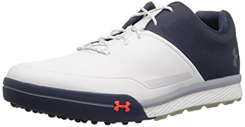 Under Armour Men's Tempo Hybrid 2 Golf Shoe, White (100)/Academy, 15