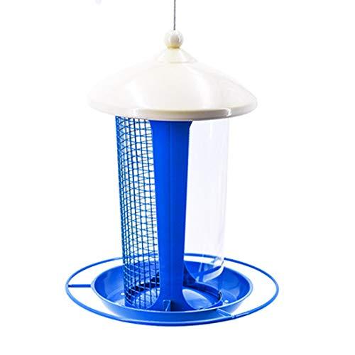 JXXDDQ Mangeoire à Oiseaux Sauvage pour la décoration de Jardin, Cintre de mangeoires pour Grands Oiseaux (Couleur : Bleu)