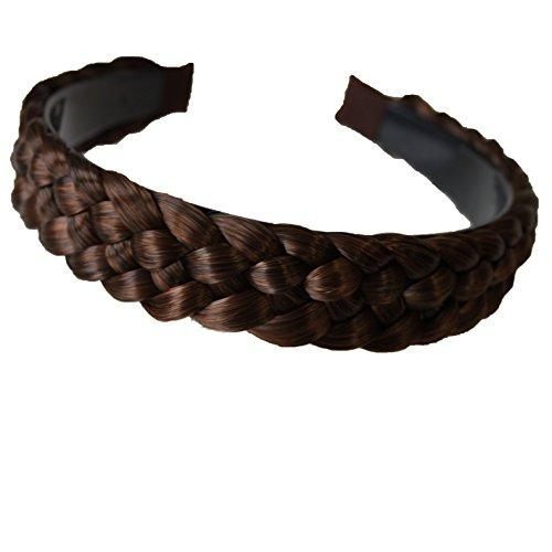 PRETTYSHOP Haarreifen mit geflochtenem Zopf Haarteil Haarband Kopfschmuck Haarschmuck HR6
