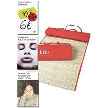 99 francs + Confession d'une radine + Ça c'est un baiser = 1 natte de plage Folio offerte