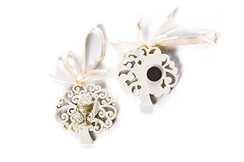 Irpot - 12 decorazioni magneti alberello in resina bomboniere prima comunione (calice 50311)