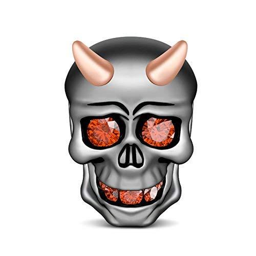 GNOCE Skull Devil Charms 925Sterling Silber Charm Beads Passend für Europäische Armband und Halskette unvergessliche Geschenk für Ihre