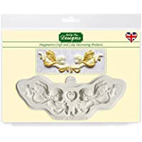 Ornamentales angelitos – Katy Sue Designs molde de silicona para decoración de dulces Cupcakes Sugarcraft y