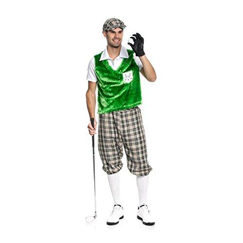 Kostümplanet® Golf Spieler Kostüm Herren witziges Herren-Kostüm Golfer mit Golf-Mütze Größe (Kostüme Golfer)