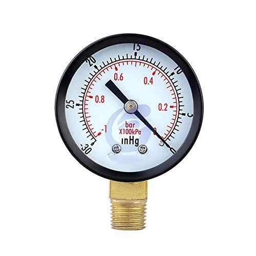 """ZUZU Tragbare Dual Skala Messuhr 1/4""""NPT-30HG / 0PS Vakuum Manometer Manometer 2"""" Dial Display Digital Manometer"""