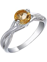 Sterling Silver Citrine Ring (3/4 CT)