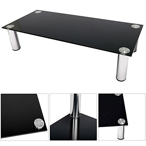 Melko® TV-Aufsatz Bildschirmerhöhung Monitorerhöhung Tisch Lowboard Beistelltisch Erhöhung für TV PC Montor, Schwarz, 80 cm