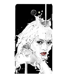 Ebby Premium 3d Desinger Printed Back Case Cover For Sony Xperia M2 (Premium Desinger Case)
