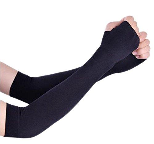 Dosige Armlinge Arm Ärmel UV Schutz Armwärmer Sonnenschutz Arm Kühler für Basketball Golf Radsport 36CM Schwarz
