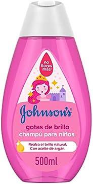 Johnson's Baby Gotas de Brillo Champú para Niños, Cabellos más Brillantes, Suaves y Sedosos - 50