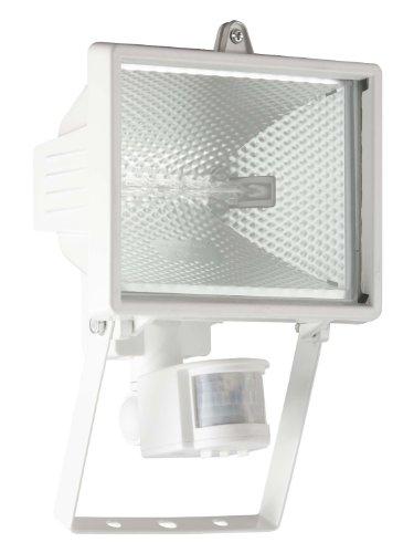 Brilliant G96164/05 Lampe Extérieure avec Détecteur de Mouvement 400 W R7s Blanche Tanko