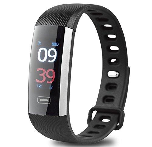 Go-smart-phone (GOCLEVER® SMART BAND MAXFIT PREMIUM Fitness Aktivitätstracker für IOS & Android Smartphones - Herzfrequenz Synchronisierter Anruf SMS Bluetooth)
