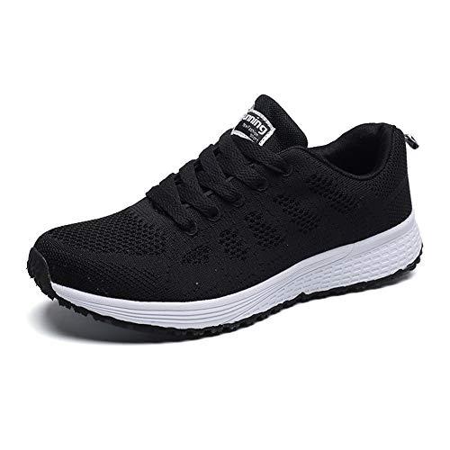 Este modelo de zapatillas de deporte para mujer es transpirable y liviano, especialmente adecuado para la primavera y el verano; las partes superiores de tela tejida crean un espacio interior seco y cómodo para sus pies, reduciendo los olores. La sue...