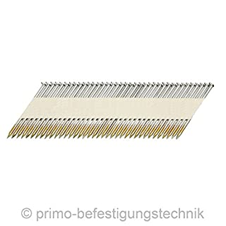 4.500 Streifennägel 34° 3,1 x 80mm papiergebunden D-Kopf blank glatter Schaft f. Senco Paslode Hitachi 508431x80