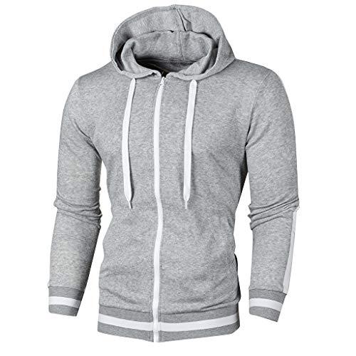 Elecenty Pullover Men Autumn Long Ärmel Patchwork Hoodie Hooded Sweatshirt Oben Tee Outwear Blouse - Midweight Denim Shirt
