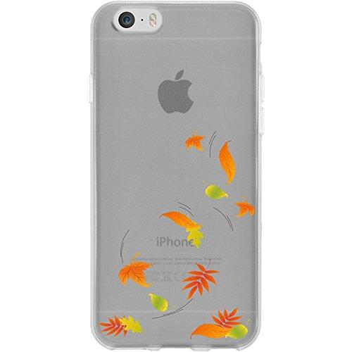 PhoneNatic Apple iPhone 6s / 6 Custodia in Silicone autunno M5 Case iPhone 6s / 6 + pellicola protettiva Motiv:01
