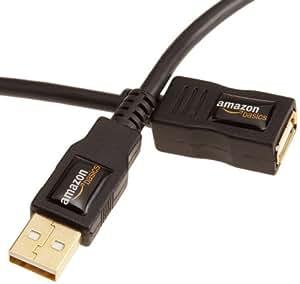 AmazonBasics Rallonge Câble USB 2.0 mâle A vers femelle A 1 m