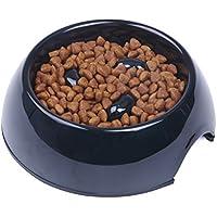 SuperDesign Heavy Duty melamina antideslizante alimentación lenta Comedero para perros y gatos