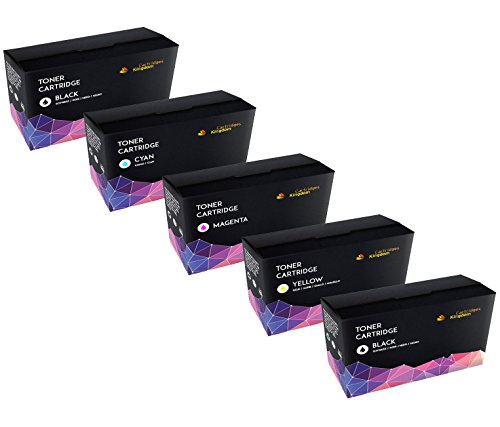 Cartridges Kingdom 5-er Set Toner kompatibel zu HP CF210X CF211A CF213A CF212A 131X 131A für HP Laserjet Pro 200 Color M251n, M251nw, MFP M276n, MFP M276nw (2 Schwarz, Cyan, Magenta, Gelb) (Tonerkassette Hp 131)
