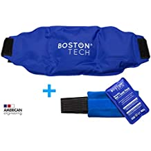 Boston Pak - 2 compresas de gel frio y calor. Reutilizables, 1 con cinturon universal ajustable y 1 con banda de compresión. Ideal para dolores de espalda, hombro, rodilla, tendonitis, artrosis y lesiones